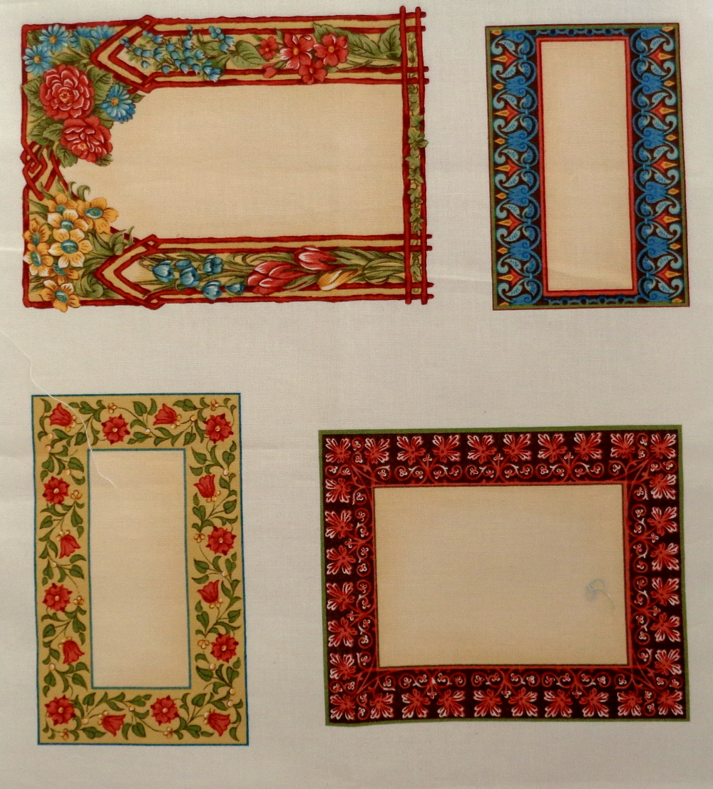 Panel of assorted frames 30cm by 112cm   Sew Patch n Quilt